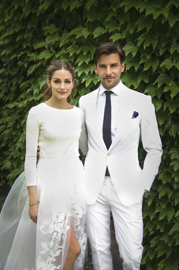 Olivia Palermo ties the knot in Sweater and Shorts