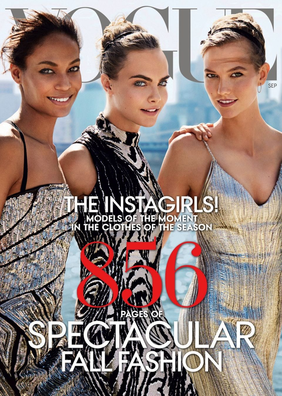 Vogue puts models on its September 2014 Issue