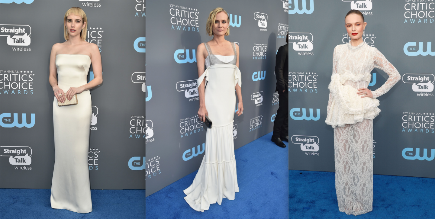 The Best Dressed At The Critics Choice Awards Wore White