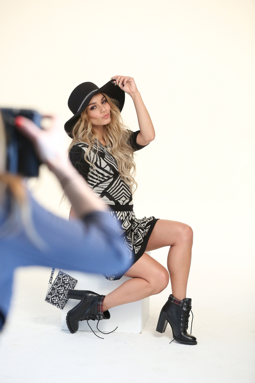 An 'unretouched and unfiltered' Vanessa Hudgens for Bongo