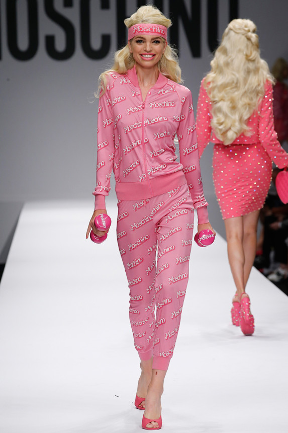 The Barbies of Moschino Spring 2015